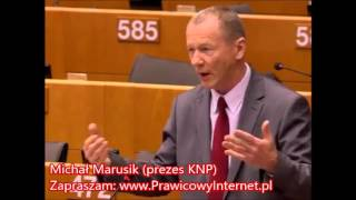 Michał Marusik: GENIALNA wypowiedź o imigrantach w Parlamencie Europejskim