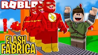 FLASH FACTORY IN ROBLOX!! (Super Hero Tycoon)