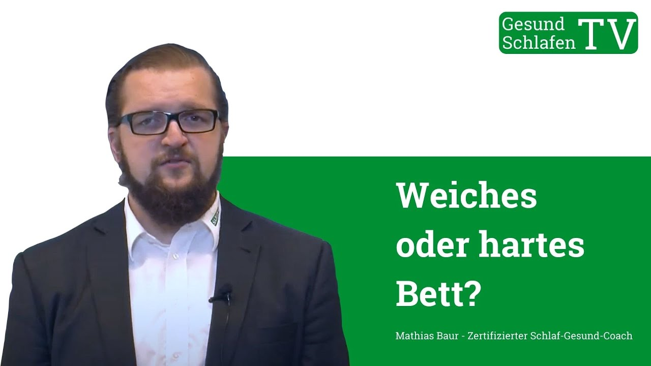 Rückenschmerzen! Weiches oder hartes Bett? - YouTube