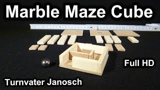 Marble Maze Cube Puzzle