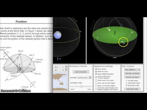 Celestial Sphere Simulation