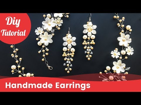 How to Make DIY Bridal Earrings. Easy & Quick Wedding Pearl Earrings [Eng Subs]