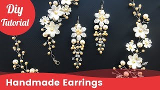 How to Make Bridal Earrings. Easy & Quick Wedding Pearl Earrings. DIY Craft Idea
