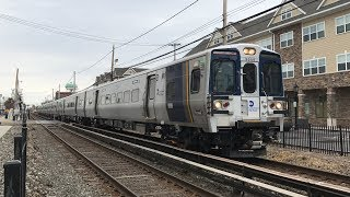 Long Island Rail Road HD 60fps: Kawasaki M9 Test Train @ Farmingdale (3/29/19)
