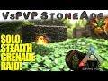 Solo Stealth Grenade Raid! | VsPVP: StoneAde | ARK: Survival Evolved Primitive | S3:EP7