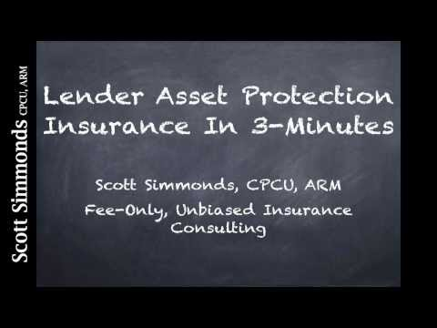 Bank Lender Asset Protection Insurance In 3 Minutes