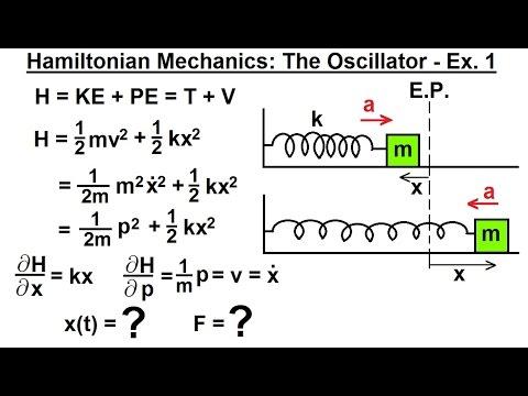 Physics - Adv. Mechanics: Hamiltonian Mech. (2 of 18) The Oscillator - Example 1