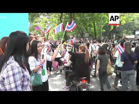 Anti-government protesters march on US embassy