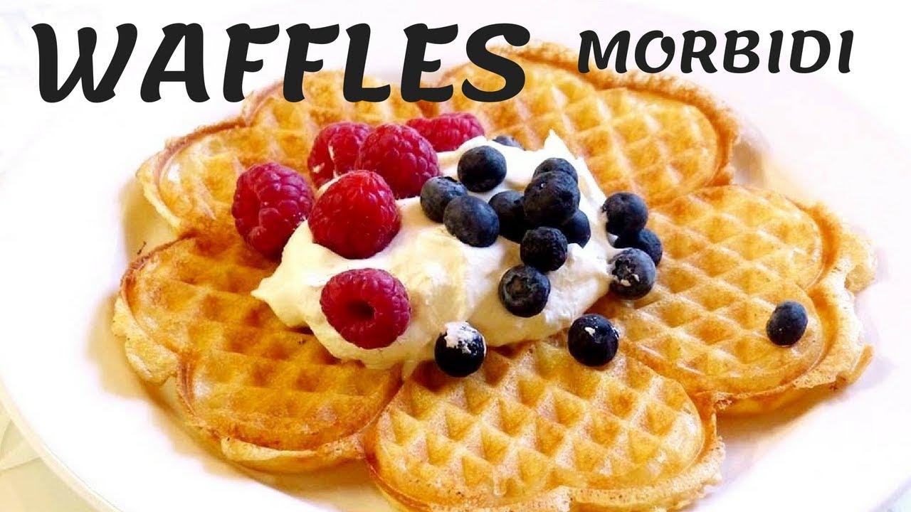 Ricetta Waffle Di Benedetta.Waffles Morbidi Con La Piastra Colazione Da Hotel Youtube