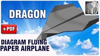How to make Paper Plane Flying DRAGON | Diagram (PDF)