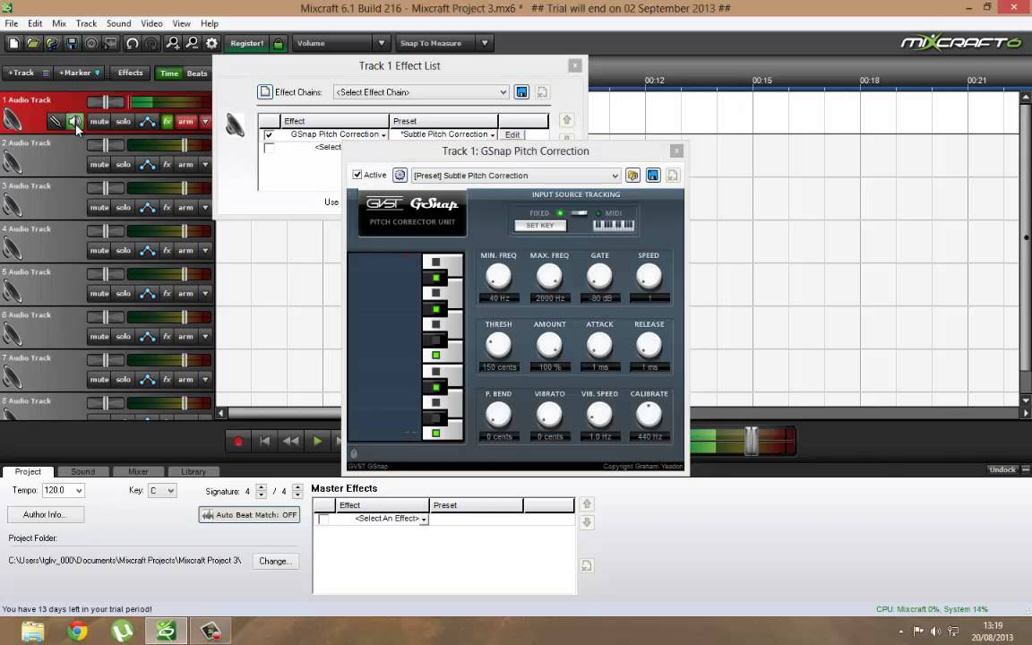 auto tune voice with mixcraft 6 easy youtube