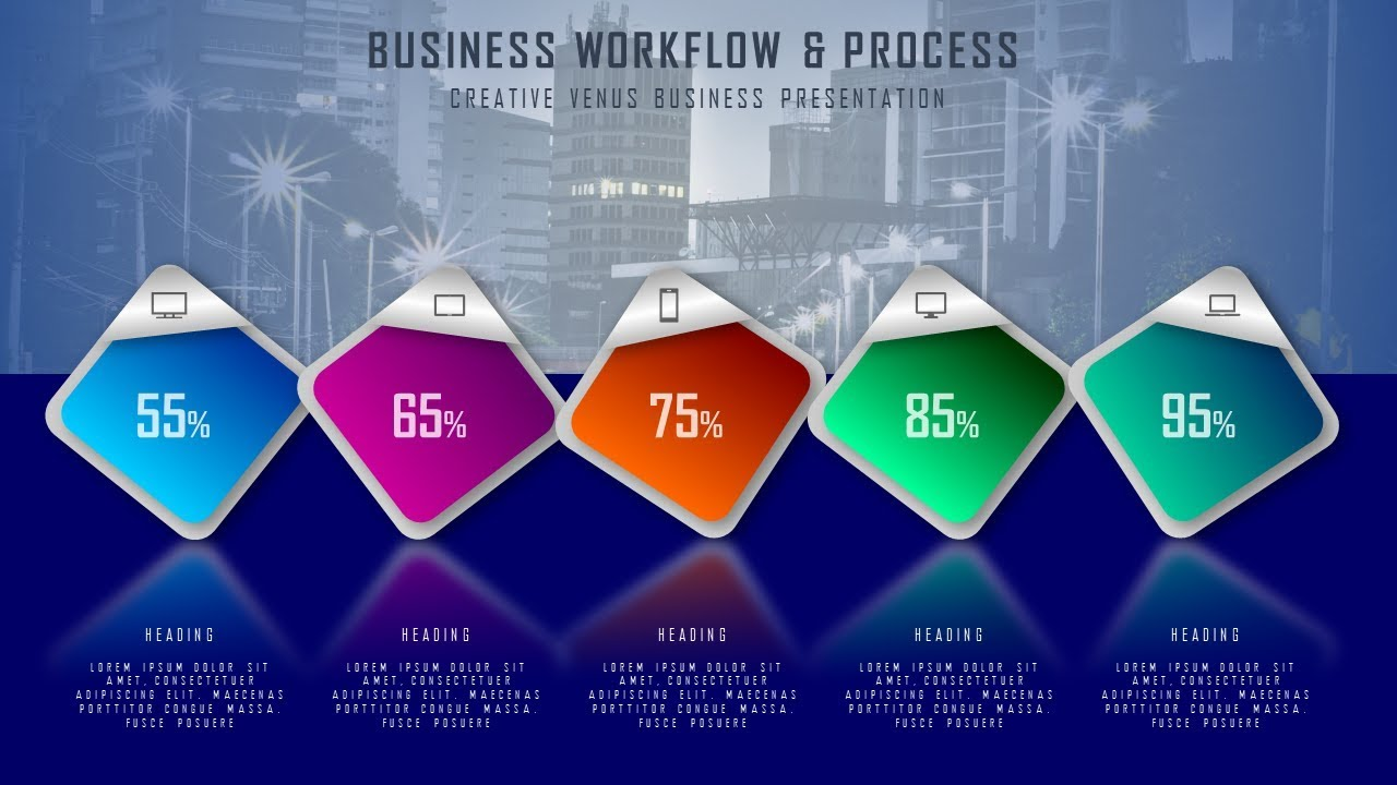 How To Design Beautiful WorkFlow Business Process Infographic in Microsoft  Office365 PowerPoint PPT