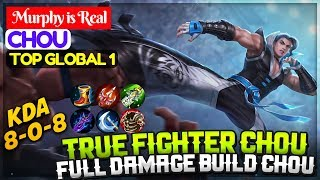 Video True Fighter Chou, Full Damage Build Chou [ Top 1 Global Chou ] Murphy is Real Chou Mobile Legends download MP3, 3GP, MP4, WEBM, AVI, FLV Oktober 2018