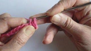 Вязание крючком - Урок 9. Полустолбик