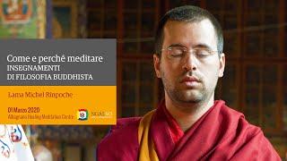 Insegnamenti di filosofia buddista – Come e perchè meditare con Lama Michel Rinpoche 01/03-2020