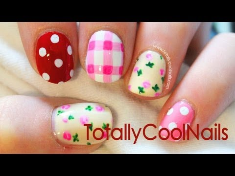 Mismatch Pattern Nail Art Tutorial