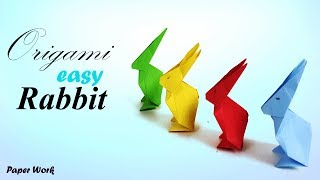 Origami Bunny Rabbit Tutorial 🐰 How to make a paper rabbit/ bunny for kids ♥︎ DIY ♥︎ Paper work