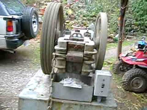 Vintage Mining Assayer's Ore Jaw Rock Crusher Gold Mining Hit and Miss Engine Fairbanks Morse