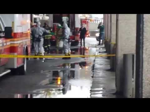 New York Post video of crews in protective suits at Bellevue Hospital