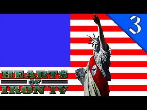 NAZI AMERICA INVADES BRITAIN! Hearts of Iron 4: The Man in the High Castle Mod: Nazi America #3