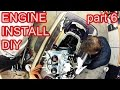 How to Rebuild a SEADOO 2stroke 951 - part 6 Engine Installation Cables and Lines