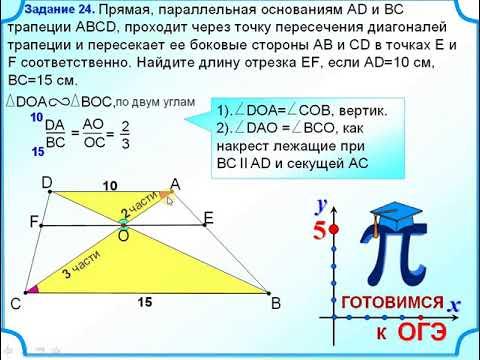 Задание 24 Первый признак подобия треугольников