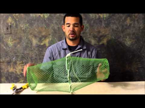 Diy bait fish trap building a bait fish trap for 2 youtube for Diy fish trap