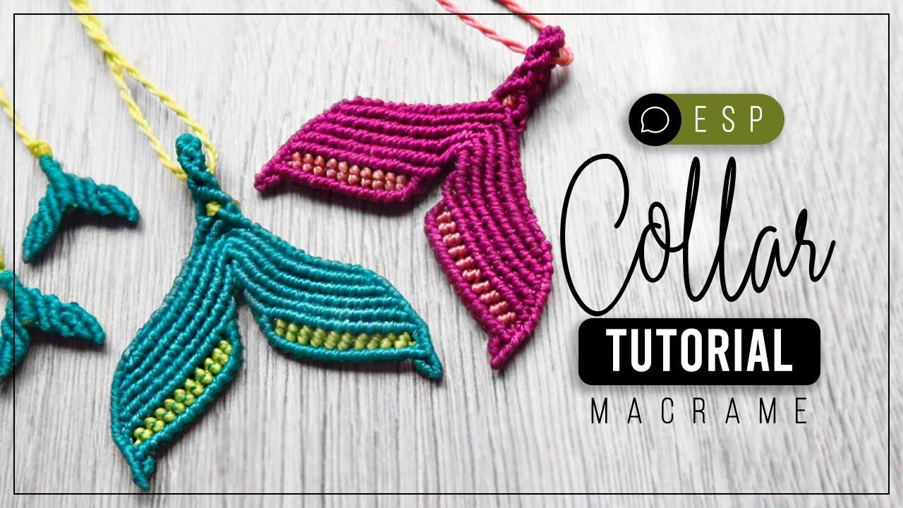 Cola de Sirena » 🧜♀️ tutorial | como hacer collar gargantilla de hilo | diy ● Macrame Necklace #209