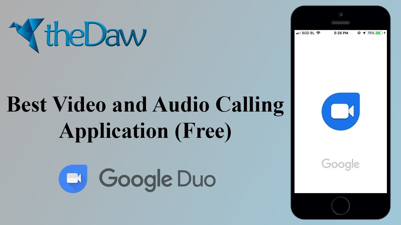 Best Free Audio and Video Calling Application | Google Duo | theDaw