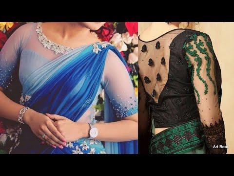 stylish-net-blouse-designs- -beautiful-designer-netted-blouses-2020