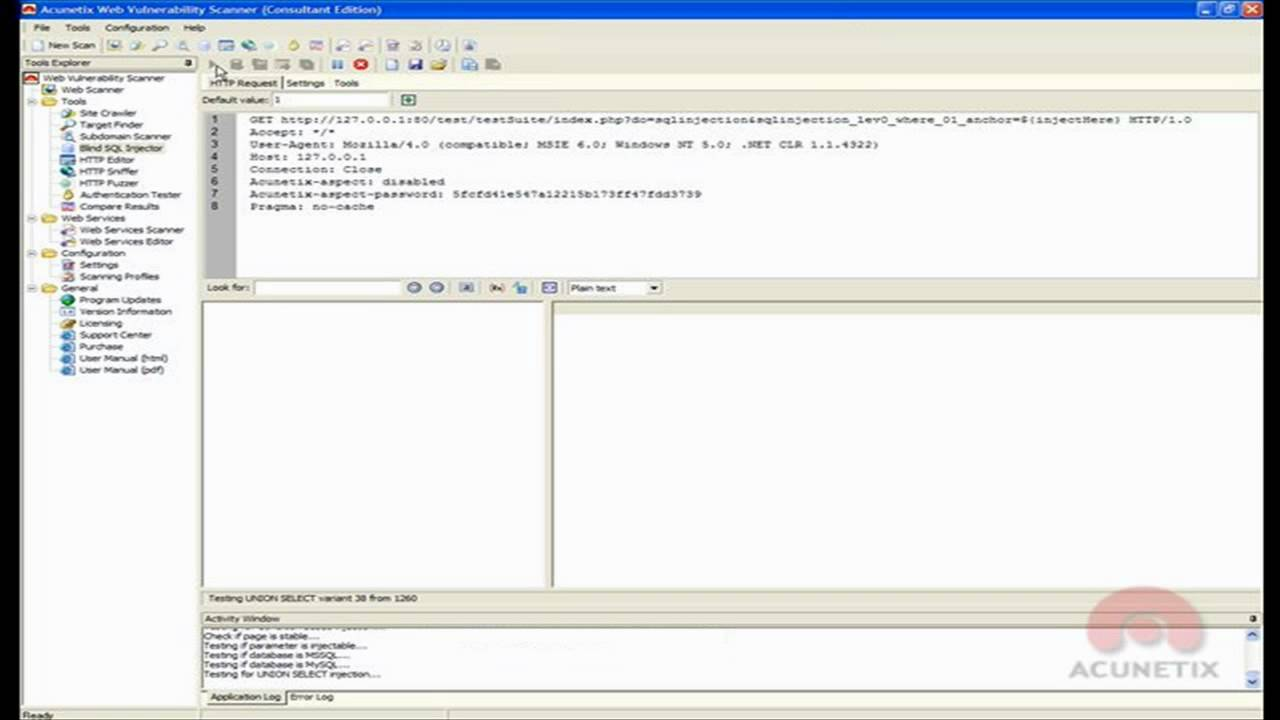 Data Mining With Acunetix Blind Sql Injection Tool Youtube