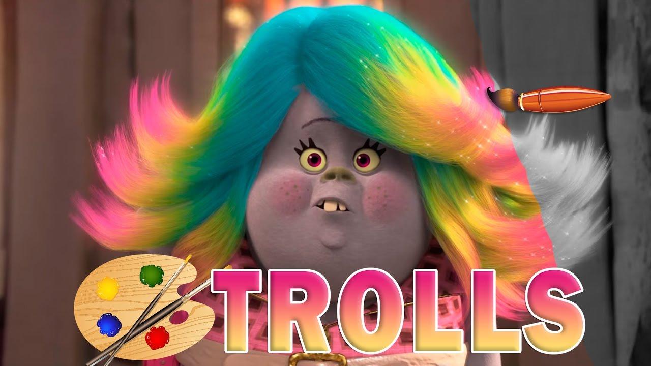 Coloring Pages Trolls : Trolls movie bridget kids coloring book coloring pages for