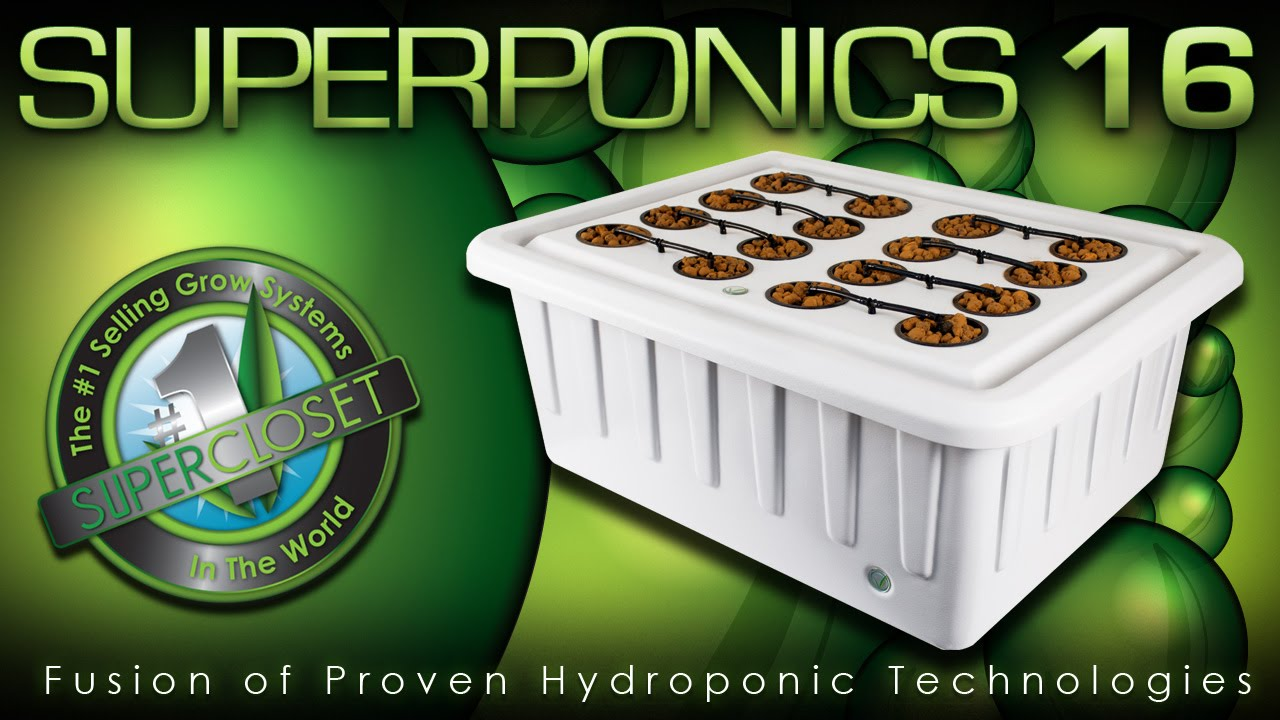 Superponics 16 Best Hydroponic Indoor Grow System Youtube
