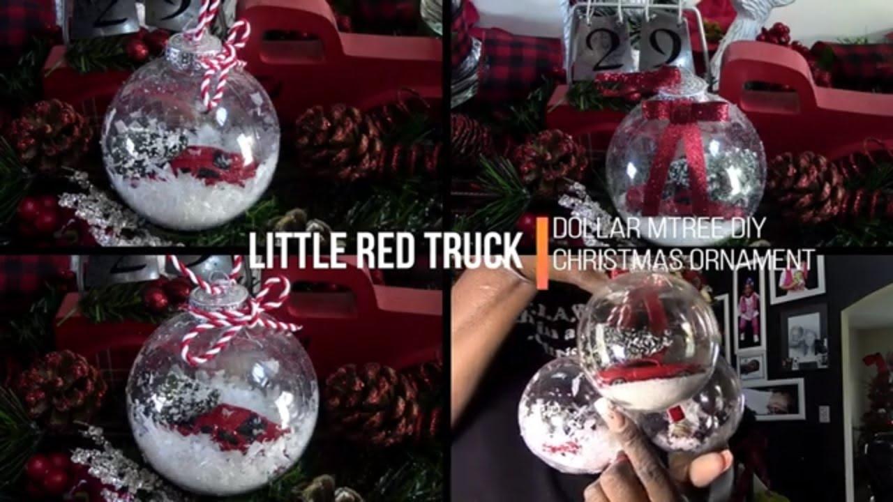 Dollar Tree Little Red Truck Christmas Ornament Diy Youtube