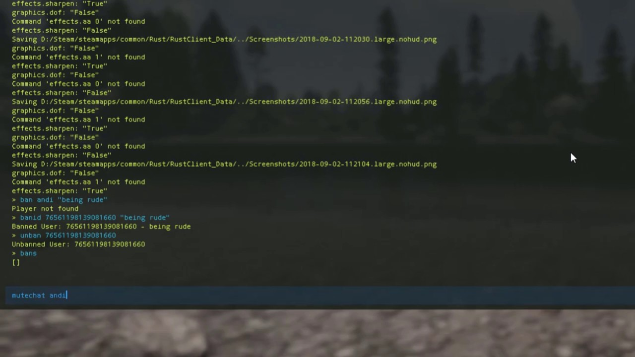 Rust Moderation Commands
