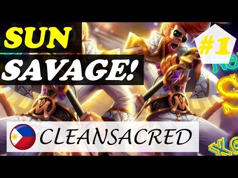 SAVAGE [Rank 1 Sun] | ᴄʟᴇᴀɴsᴀᴄʀᴇᴅ Sun Gameplay and Build #2 Mobile Legends