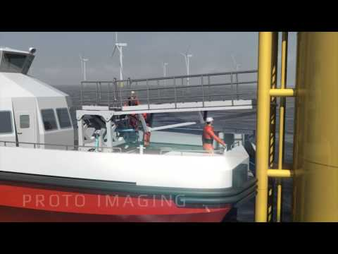 3D CGI animated product video for marketing offshore wind turbine concept 720p