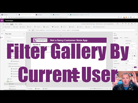 PowerApps Filter Gallery By The Current User