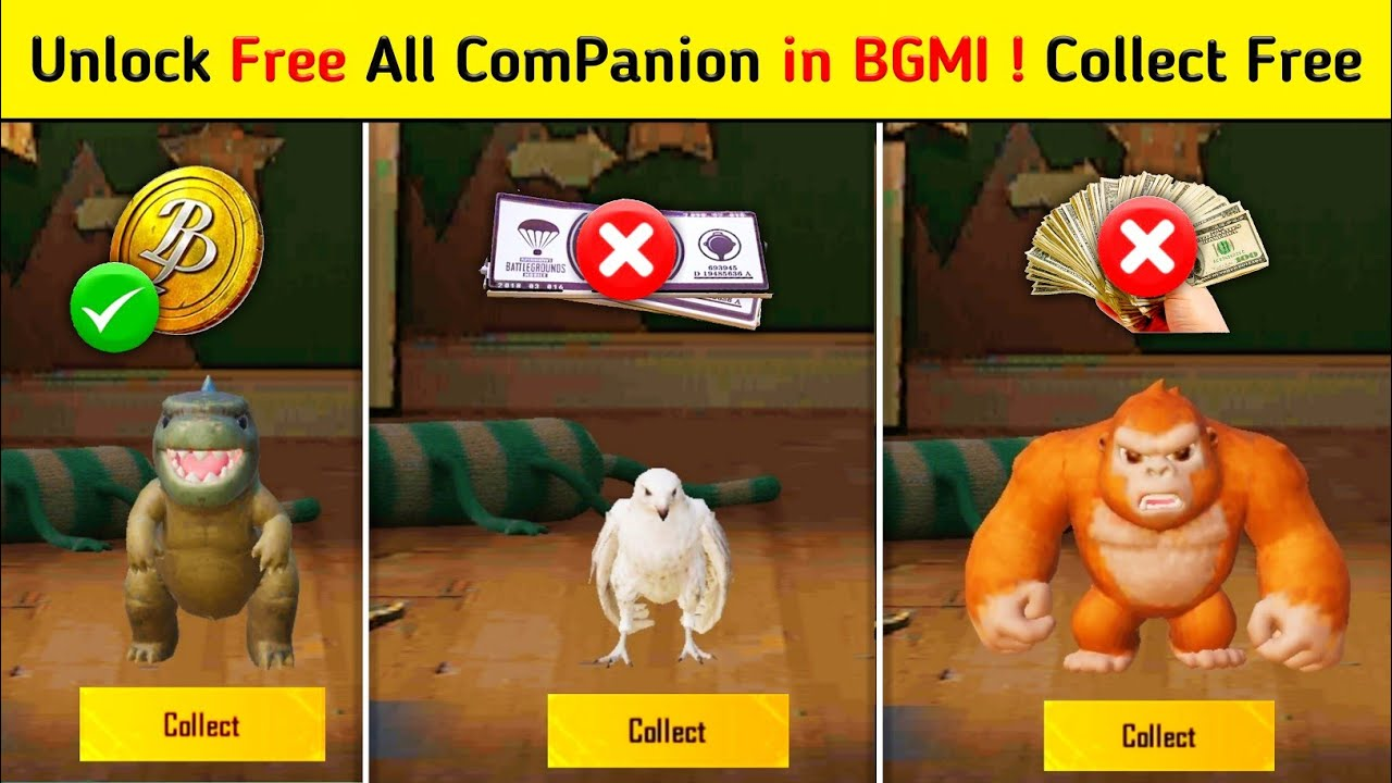 Download How to get Free Companion in Bgmi | How to get Free Falcon in Bgmi | How to get Free Bird in Bgmi