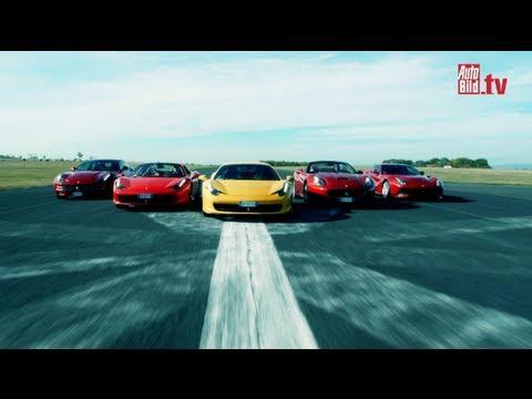 Ferrari - F12 Berlinetta, California 30, 458 Italia, 458 Spider and FF