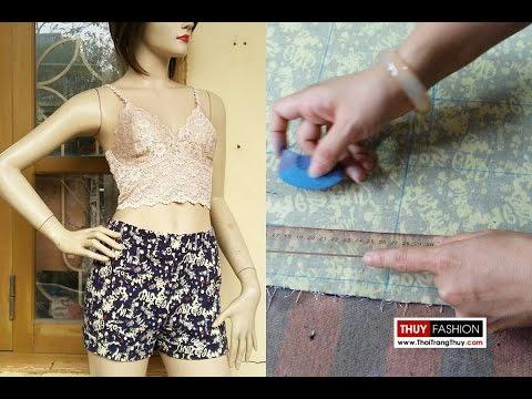 Hướng dẫn thiết kế quần short nữ phần 2 tại Thời Trang Thuỷ