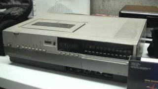 1982 Magnavox (Rebadged Panasonic) VHS Top Loader and 1970 Sony KV-1212 Trinitron TV