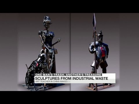 From industrial waste to art sculpture