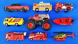 Fire Trucks for Kids #2 | Learn Fire Truck Names & Colors | Fun & Educational Organic Learning