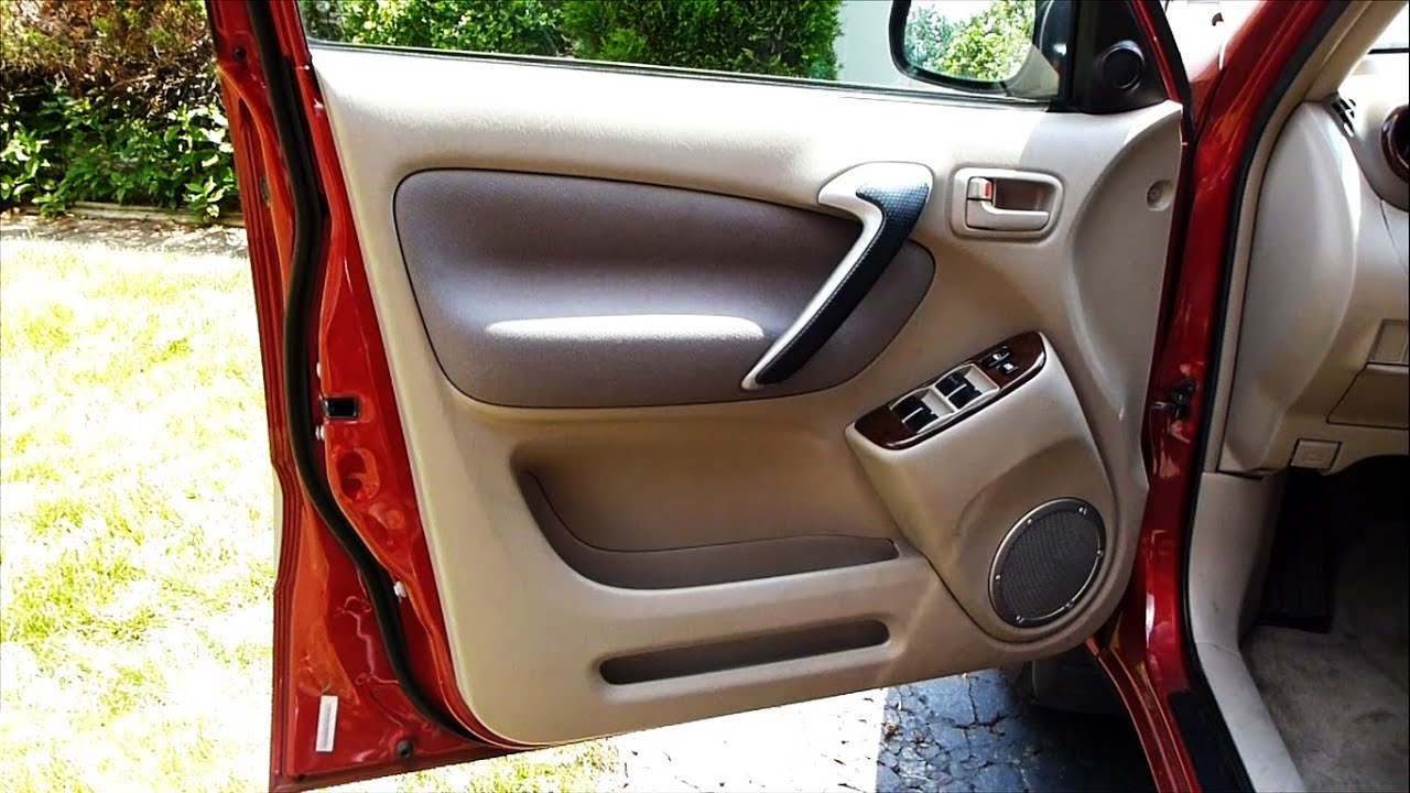 How To Remove A Door Panel In A Toyota Rav4 2001 To 2005