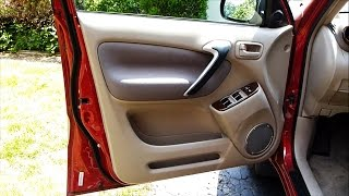 How to Remove a Door Panel in a Toyota RAV4  (2001 to 2005)