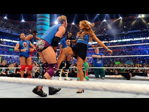 Eve gives Zack Ryder a low blow: WrestleMania XXVIII on WWE Network