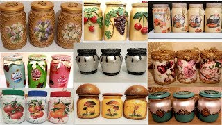 11 amazing diy ideas for  recycling  jars | Decorating glass jars