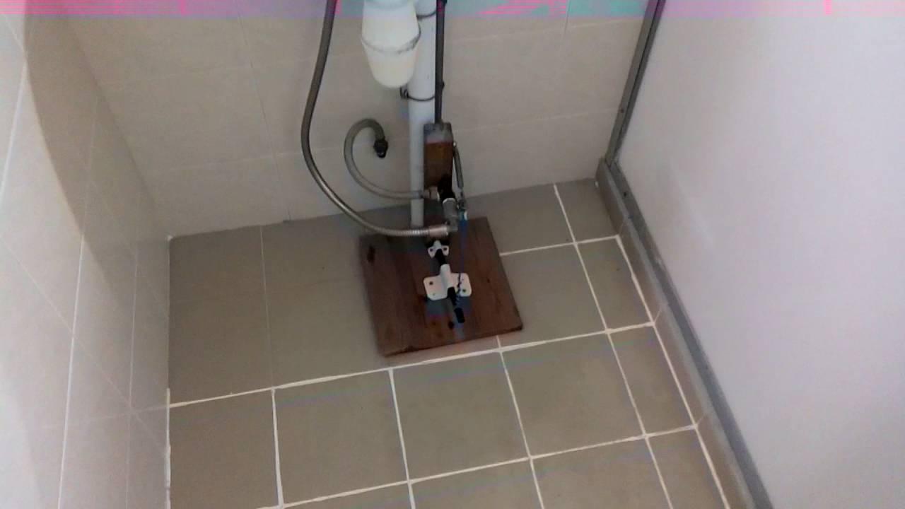 Foot control faucet diy - YouTube
