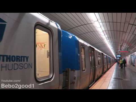 PATH Rail: Two WTC-NWK Trains Single Tracking at Exchange Pl (NJ)
